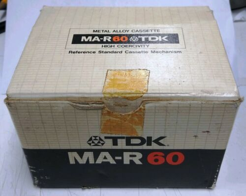 TDK MA-R 60 Metal Alloy Cassette Tapes [ Box of 5 / New / NOS ]