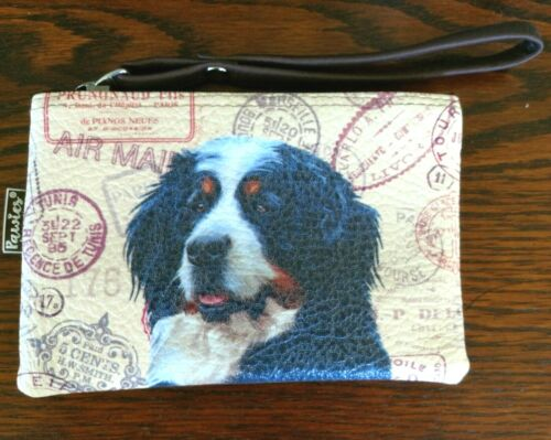 Bernese Mountain Dog Coin Purse With Handle Zipper Pouch, Makeup Bag or Etc
