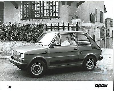 Fiat 126 Press Photograph Car on the Move 1984