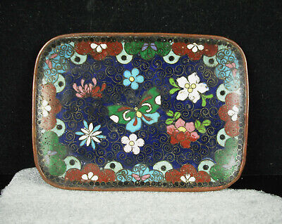 Empty Pocket Or Cup Copper Enamelled Asian China c1950 Enameld Edible Cup
