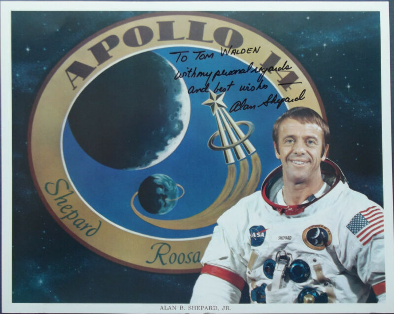 Alan Shepard Apollo 14 Commander Signed Lithograph Moonwalker Mercury Astronaut