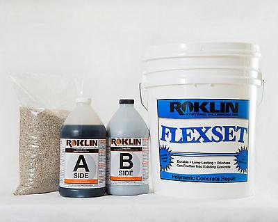 Roklins Flexset Concrete Repair 5-gal Kit Crack Spall Pothole Patch Repair