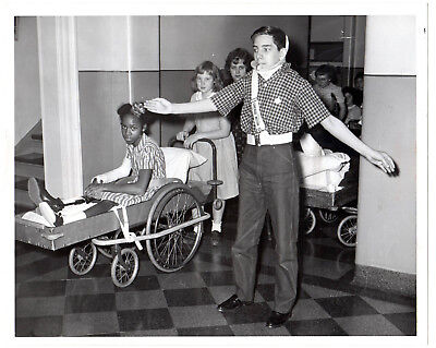 1962 Chicago Sun Times Press Photo Safety Patrol For Shriners Hosp Wheel Chairs