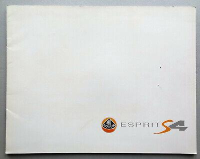 V15633 LOTUS ESPRIT S4 & SPORT 300 - CATALOGUE - NON DATE - 23x30 - FR