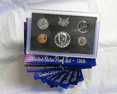Ten 1968 S United States Mint Proof Sets - 10 set Lot - OGP 1968 United States Mint