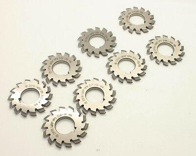 8pcslet Dp16 Modulus Pa14.5 Degrees 1-8 Hss Gear Cutter Gear Milling Cutter