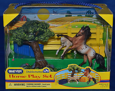 Breyer~2010-12~Horse Play Set~Appaloosa Andalusian & Foal~St
