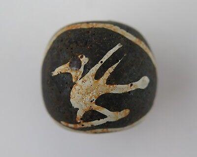 Trade bead. Jatim / Indonesian / Thailand Takuapa bird and star