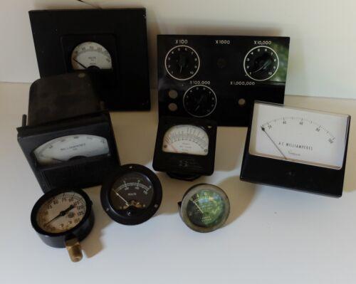 Vintage Panel Meter Lot Steam Punk Industrial Meter Radio