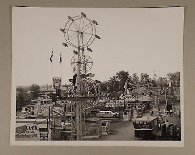 Vintage 1960s CARNIVAL Photo- Deggeller Magic Midway rides sideshow