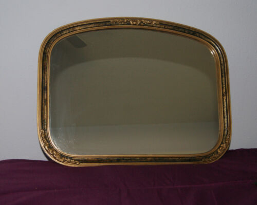 """Antique Wood Ornate Gesso Frame - 17 1/2"""" Wide x 13 3/8"""" Tall - With Mirror"""