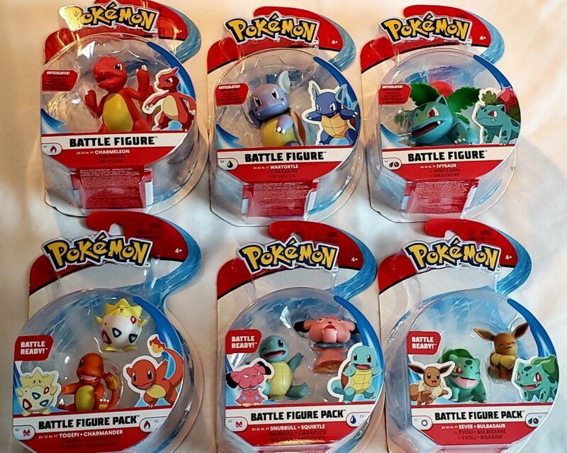 /& Wartortle New Lot Of 3 Ivysaur Pokemon Battle Figure Charmeleon