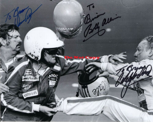 Bobby+donnie Allison+cale Yarborough  Signed Autographed 8x10 Photo Rp