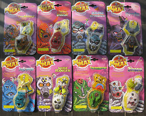 MIGHTY-MAX-Toy-HORROR-HEADS-COMPLETE-SET-8-PCS-NEW-BLUEBIRD-MATTEL-IDEAL