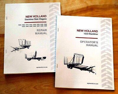 New Holland 1033 Stackliner Bale Wagon Operators And Servicerepair Manual Nh