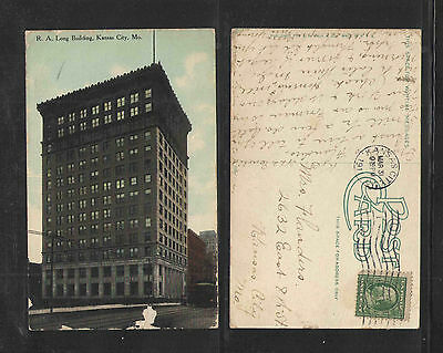 1911 R A LONG BUILDING KANSAS CITY MO POSTCARD ()