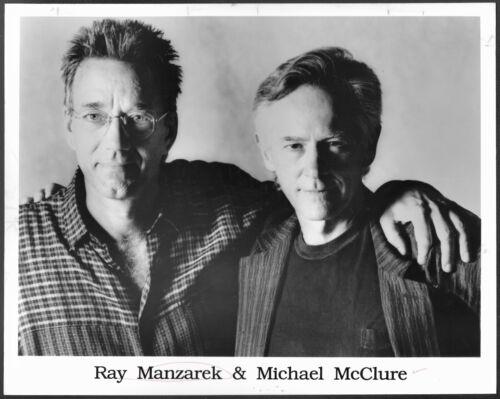 ~ Ray Manzarek of The Doors Poet Michael McClure Original 1992 Press Photo
