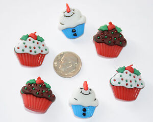 Jolly Treats ~ Holiday & Snowman Decorated Cupcakes/ Buttons Galore Christmas