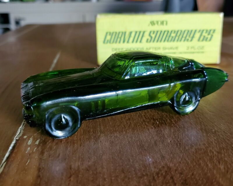 Vintage Avon Corvette Stingray 65 With Box Deep Woods After Shave Full