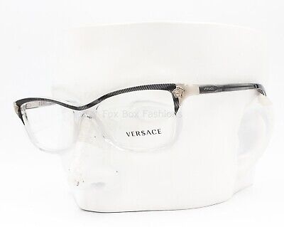 Versace MOD 3156 933 Eyeglasses Glasses Clear w/ Black Stripe 51-15-135 (Small)