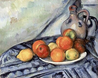 Fruit and a Jug on a Table by Paul Cezanne Giclee Repro on