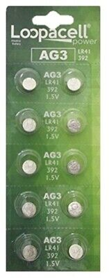 - 10 Pk AG3 LR41 392 392A SR736 LR736 Alkaline Button Cell Battery