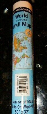 Rand McNally's Laminated World Wall Map Large 50