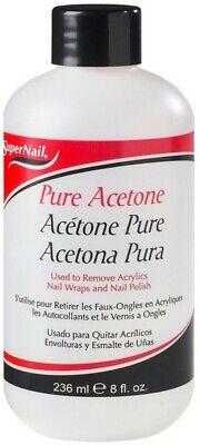Super Nail Pure Acetone Polish Remover, 8 oz