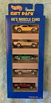 Hot Wheels 60's Muscle Cars 5 Pack Gift Set With '58 Corvette Coupe 1996 RARE.