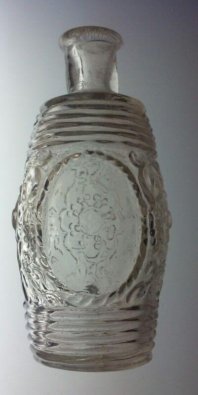 Antique Miniature Barrel Open Pontil Grapes and Vines Design RARE Perfume Bottle