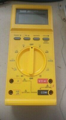 Fluke 27 Digital Multimeter With Test Leads And Original Manual