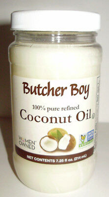 Hack Boy 100% Refined Coconut Oil 7.25 oz (214ml) Non-GMO Best By 2/2021