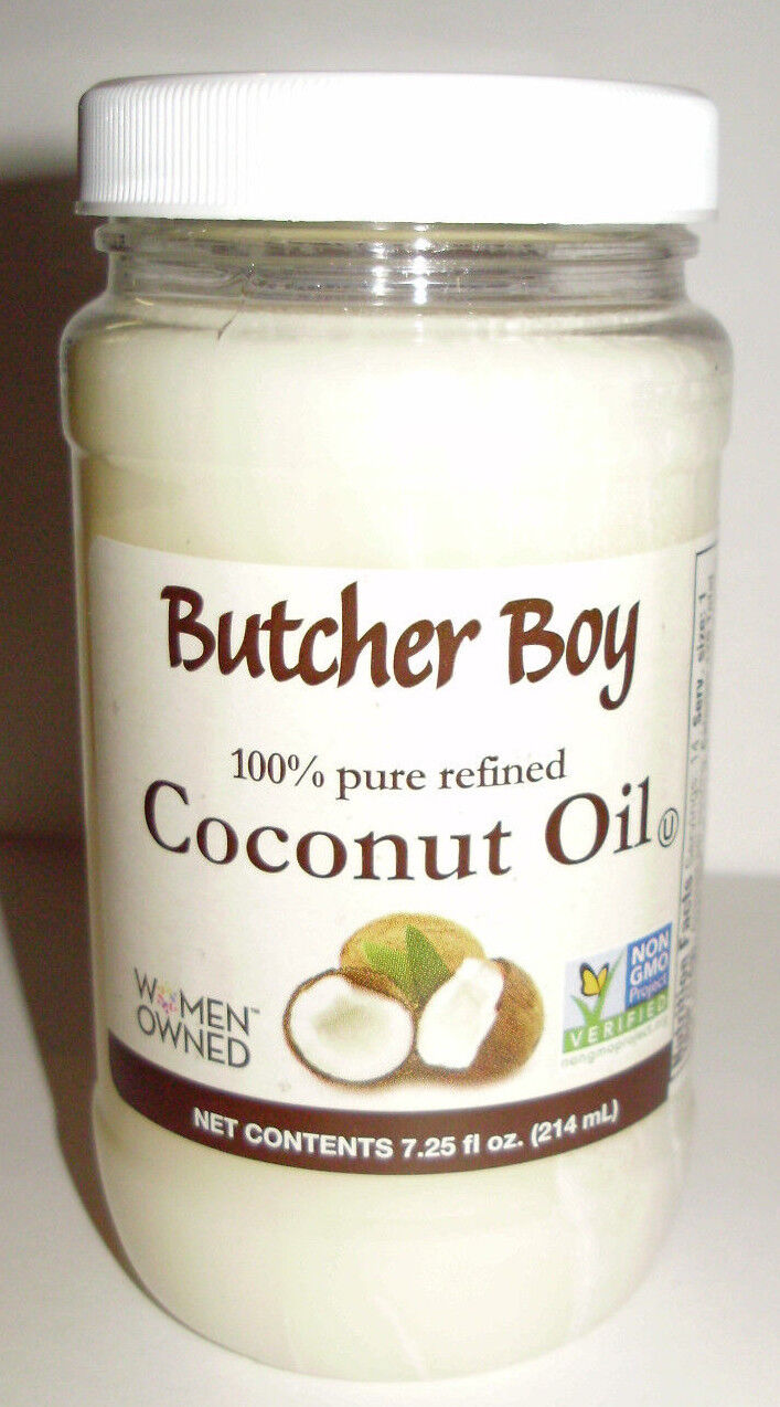 Butcher Boy 100% Refined Coconut Oil 7.25 oz  Non-GMO Exp 11