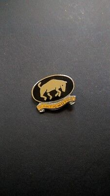 New Vintage Fanticmotor Enamel Bull Badge