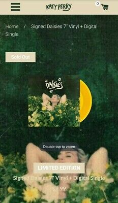 """Katy Perry - Daisies Signed 7"""" Vinyl - Sold Out!"""