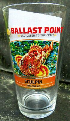 Ballast Point Sculpin IPA Pint Beer Glass w/Fish ~ San Diego CA Glasses San Diego