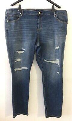 Women's Ava & Viv Skinny Leg Jeans Size 24W Distressed Blue