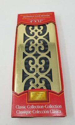 Decor Grates Classic Collection Plated Brass Scroll 4