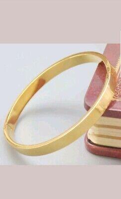 UK sparkling women14K GOLD FILLED  BANGLE bracelet wedding jewellery gift + bag