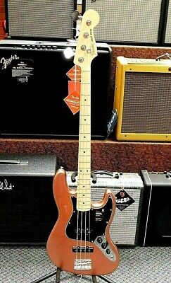 2019 Fender American Performer Jazz Bass! Copper Penny Finish! MINT! NO RESERVE!