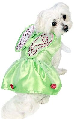 Pet Dog Cat Disney Tinkerbell Green Fairy Fancy Dress Costume Outfit Clothes