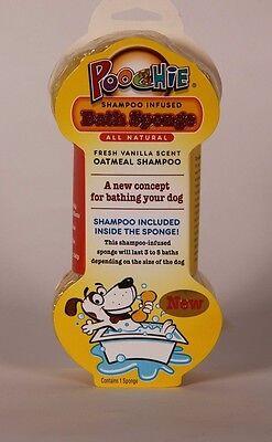 4 Poochie Dog Infused Shampoo Bathing Sponges *Orders include Free Sample Treats - Free Dog Treat Samples