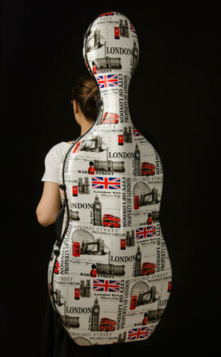 Liyin Cello Case 4/4 Cello Case Carbon fiber Cello Hard Case-London pattern