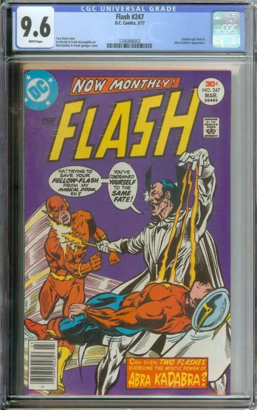 FLASH #247 CGC 9.6 WHITE PAGES