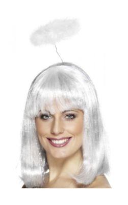 Marabou Angels Halo White Halloween Head Band Fancy - Halloween Halo