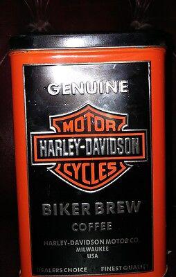 Harley Davidson Biker Brew Coffee Tin. (Empty)