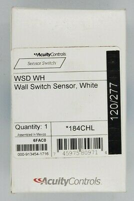 New Sensor Switch Wsd-wh Motion Detector Pir 120277vac Free Shipping