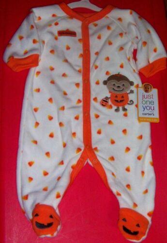 NEW! Carters My First Halloween Sleeper Outfit - Candy Corn & Pumpkin Size 3M