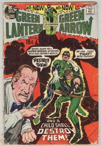 Green Lantern Green Arrow #83 May 1971 G Neal Adams