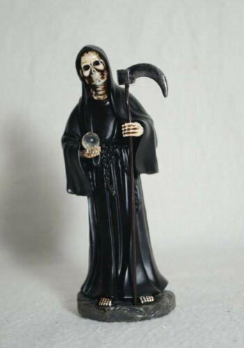"La Santa Muerte 5"" Grim Reaper Death Color Black-Skull, Skeleton-Decoration"